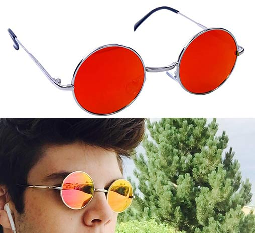 Morpheus Daredevil glasses with Gothic Red lens